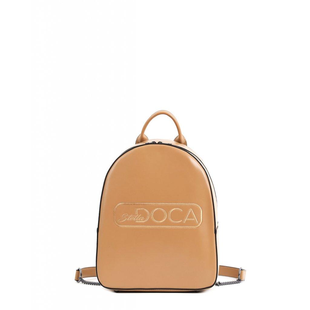 béžový logo batoh  DOCA