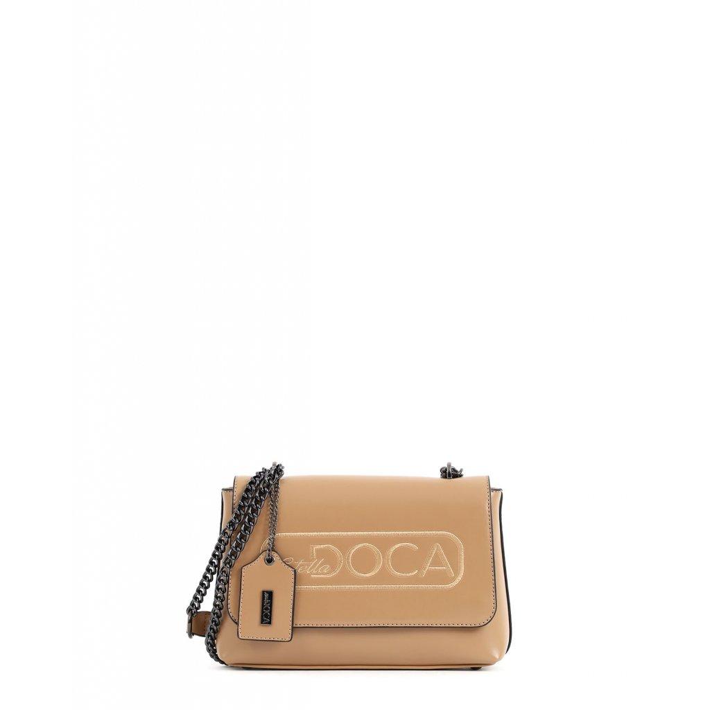 béžová logo crossbody  DOCA