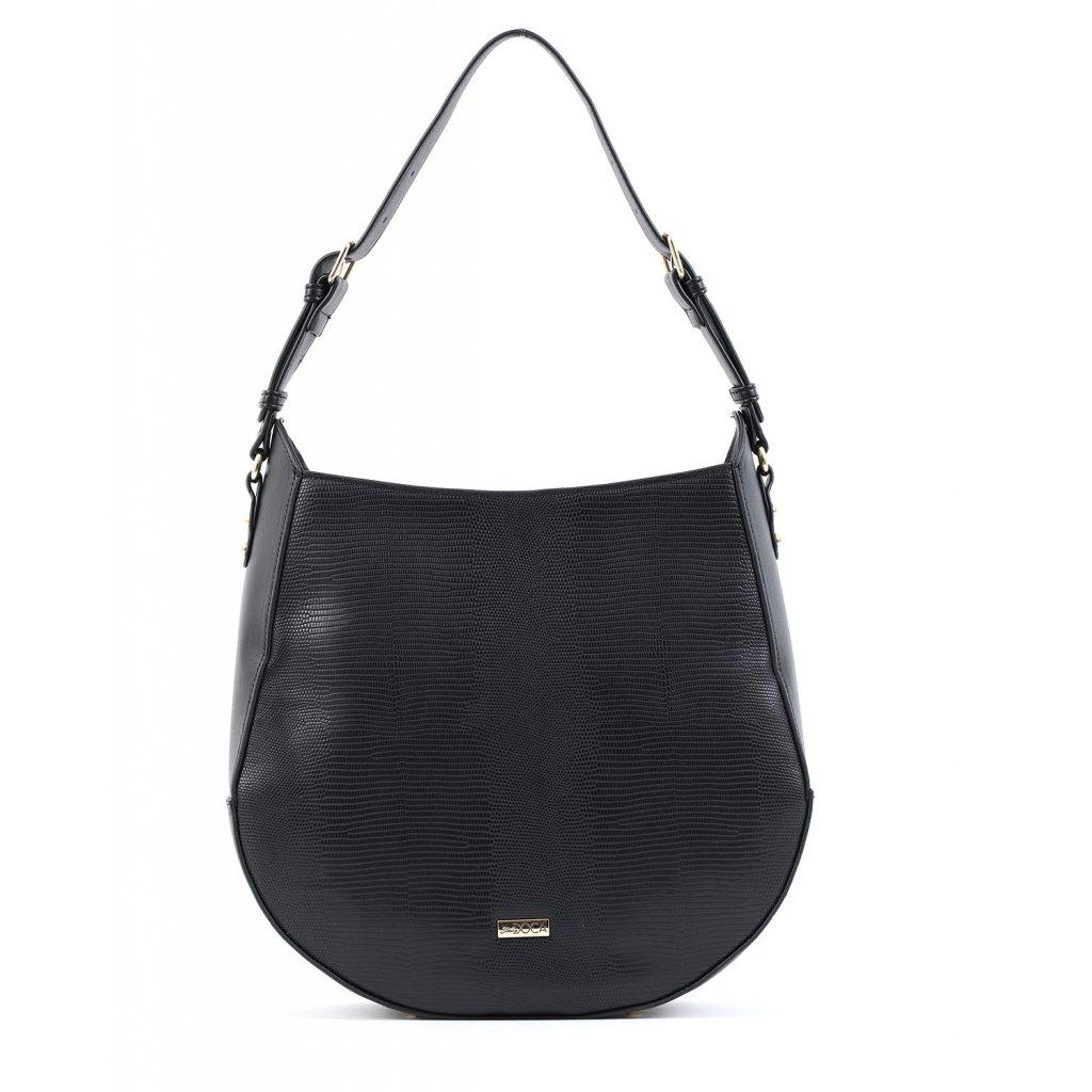 černá designová kabelka  DOCA