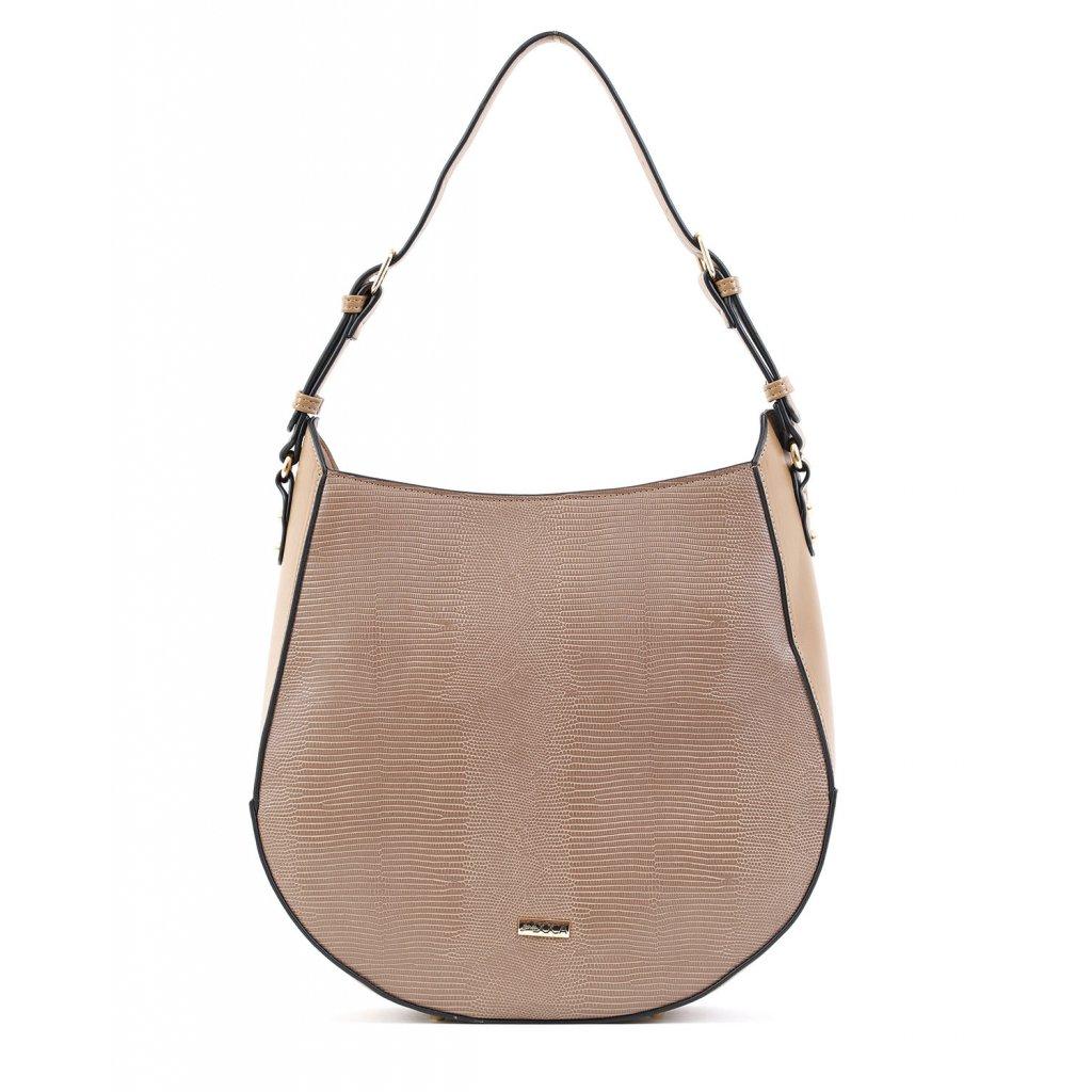 béžová designová kabelka  DOCA