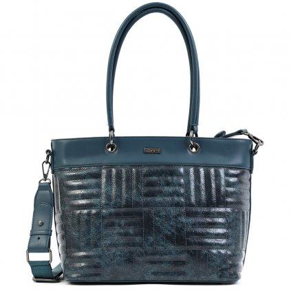 DOCA Modrá kabelka s prošíváním
