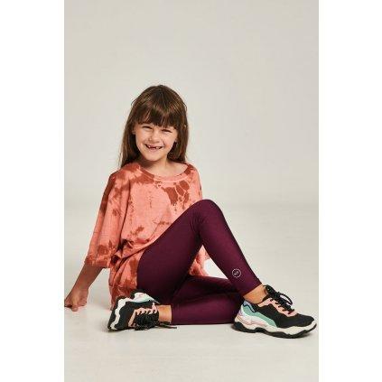 Jacqueline vínové dětské  legíny  PCP clothing