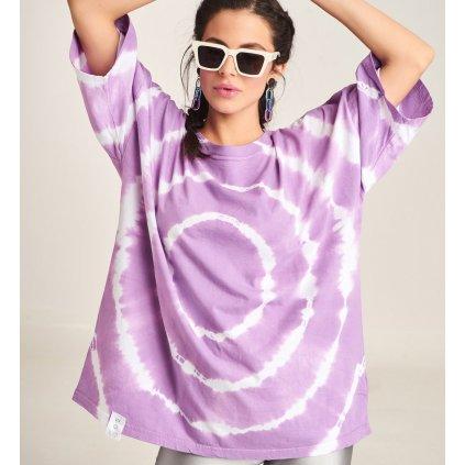 Lila batikované triko  PCP Clothing
