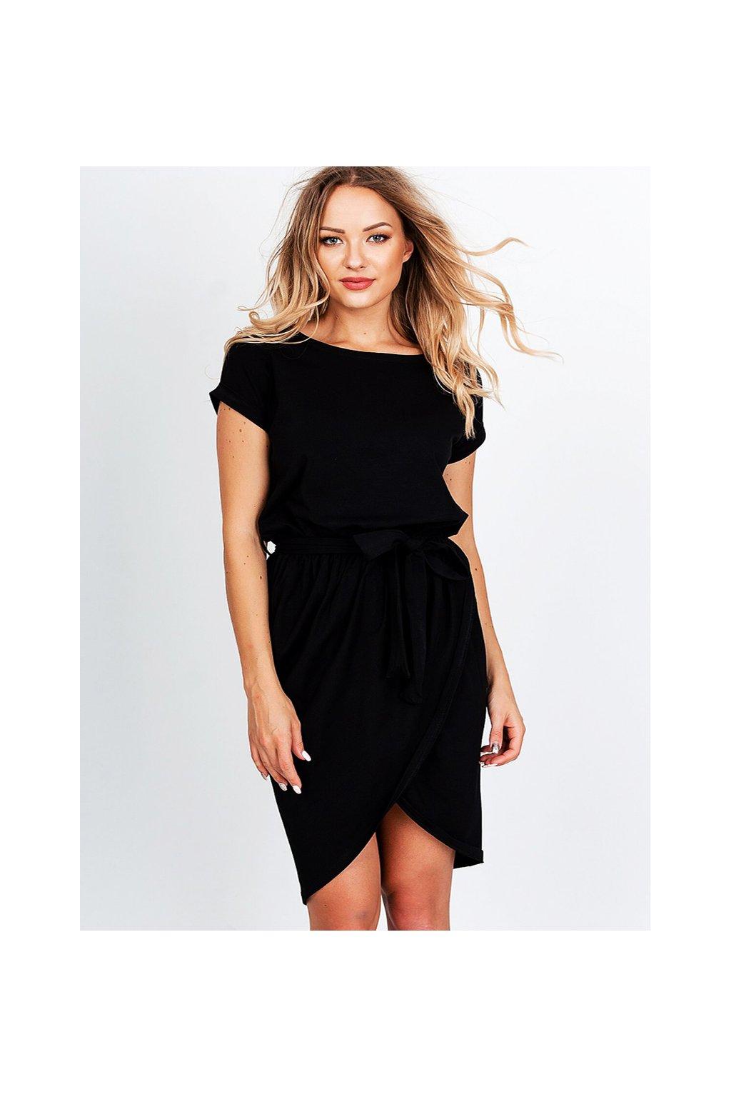 Černé balonové dámské šaty