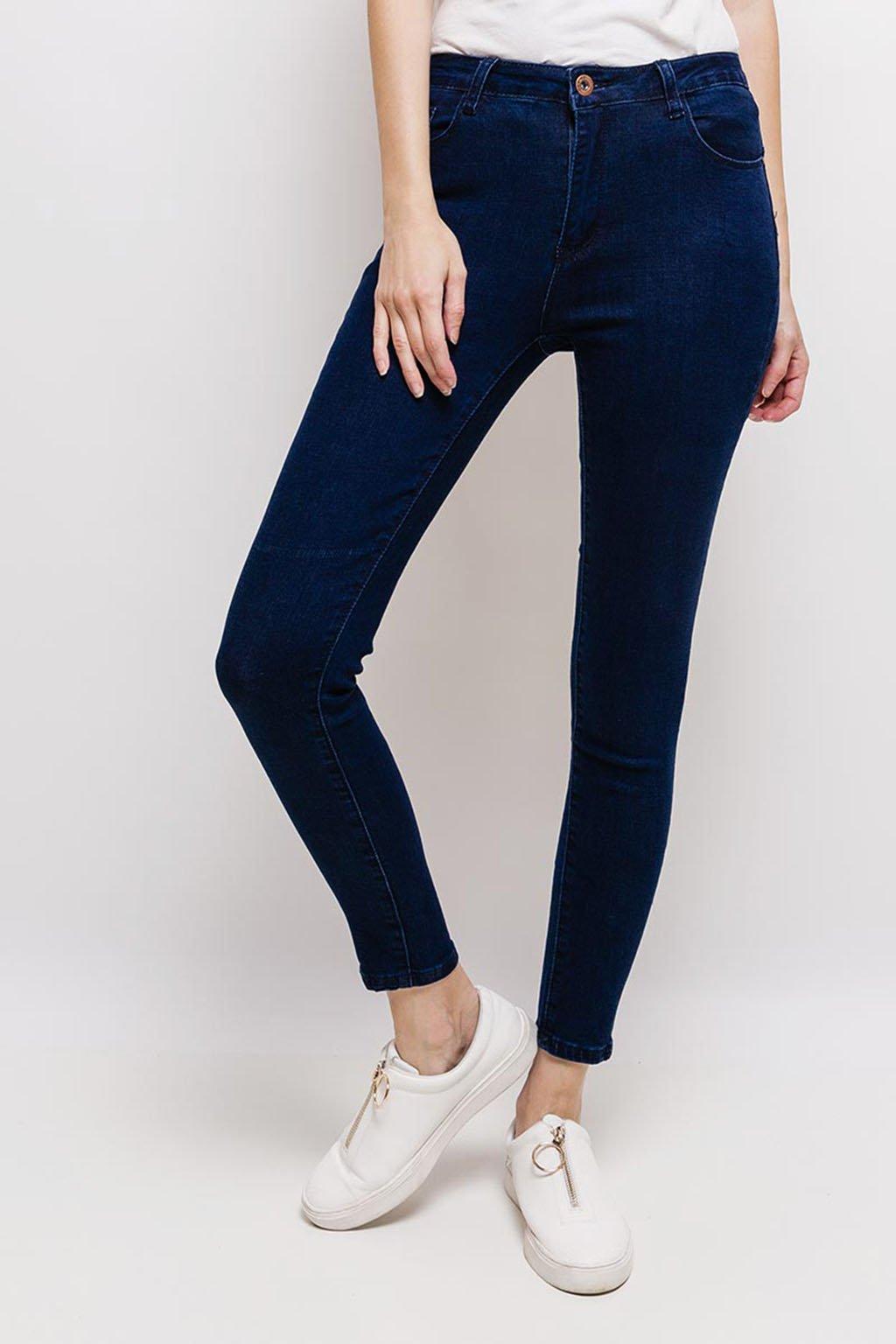 Tmavě modré dámské skinny džíny