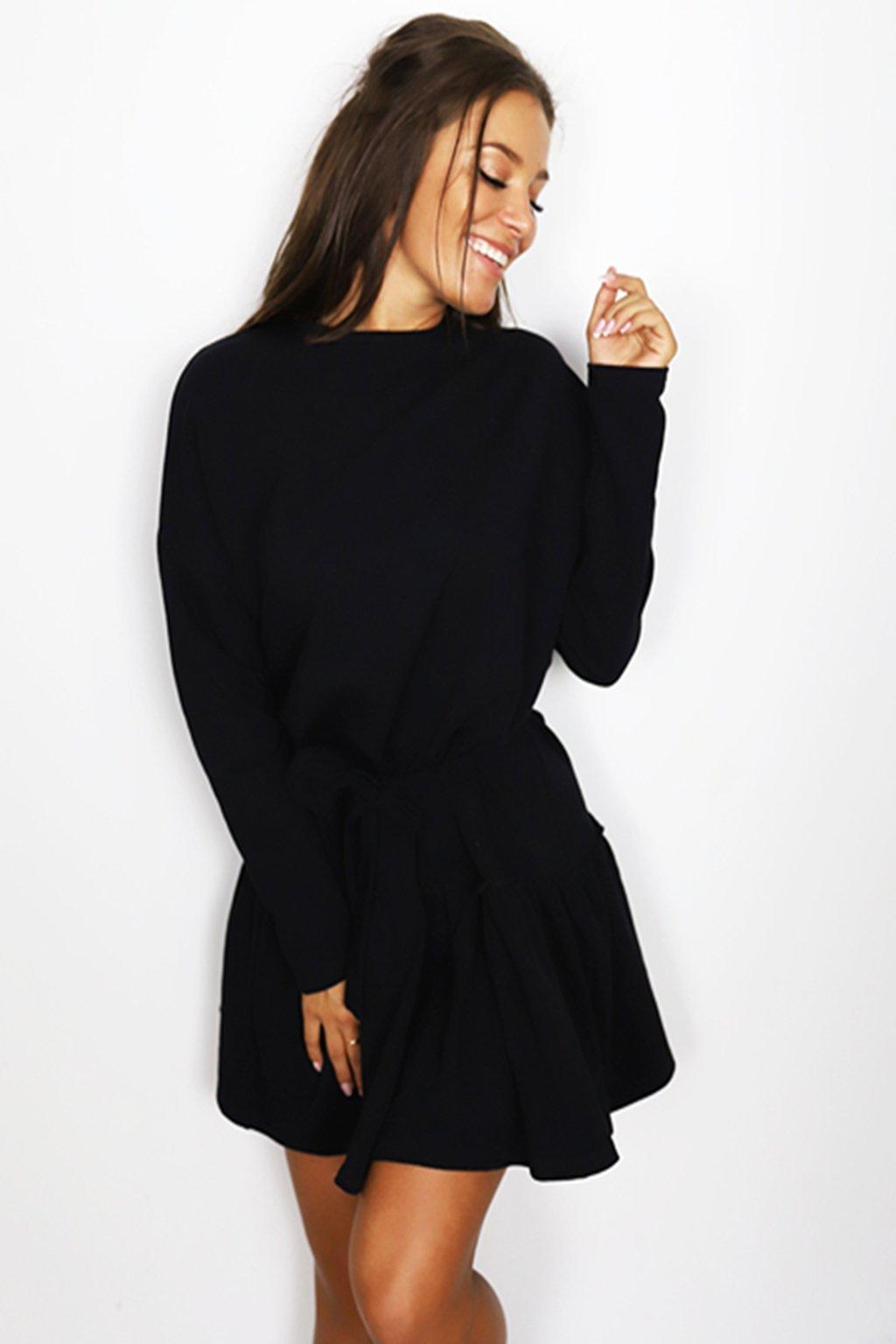 Černé dámské bavlnené šaty