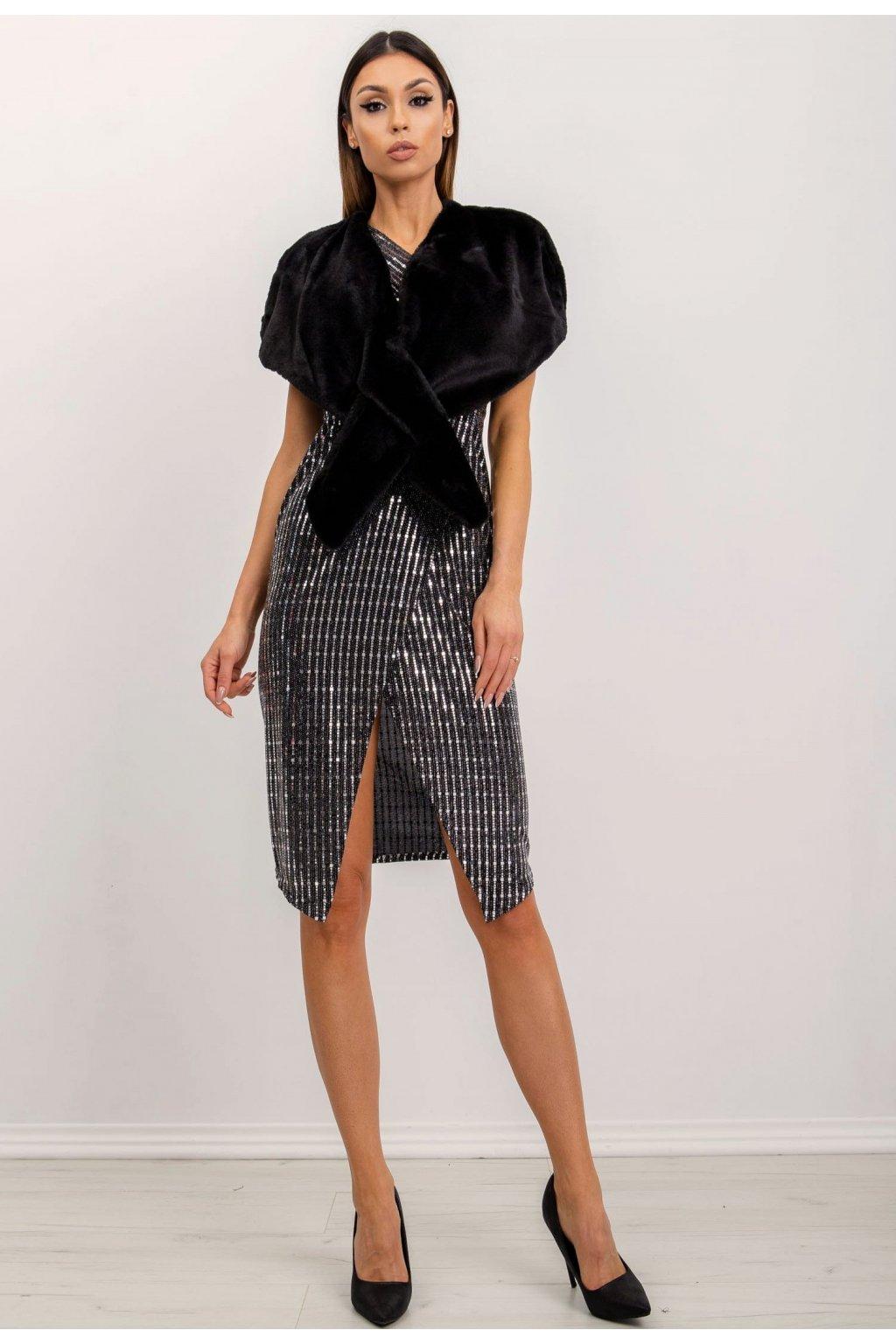 Černé dámské koktejlové šaty