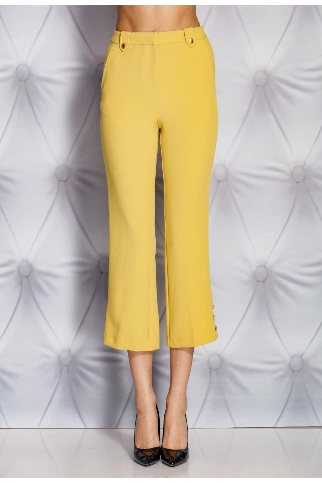 Hnědé dámské kalhoty