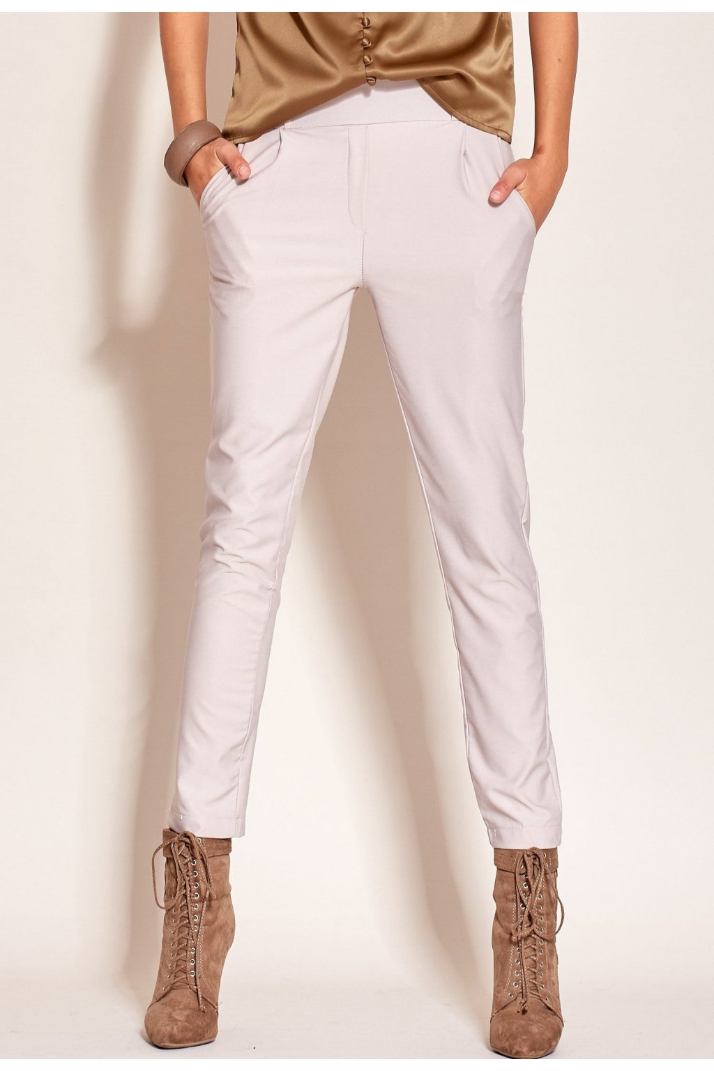 Šedé dámské kalhoty