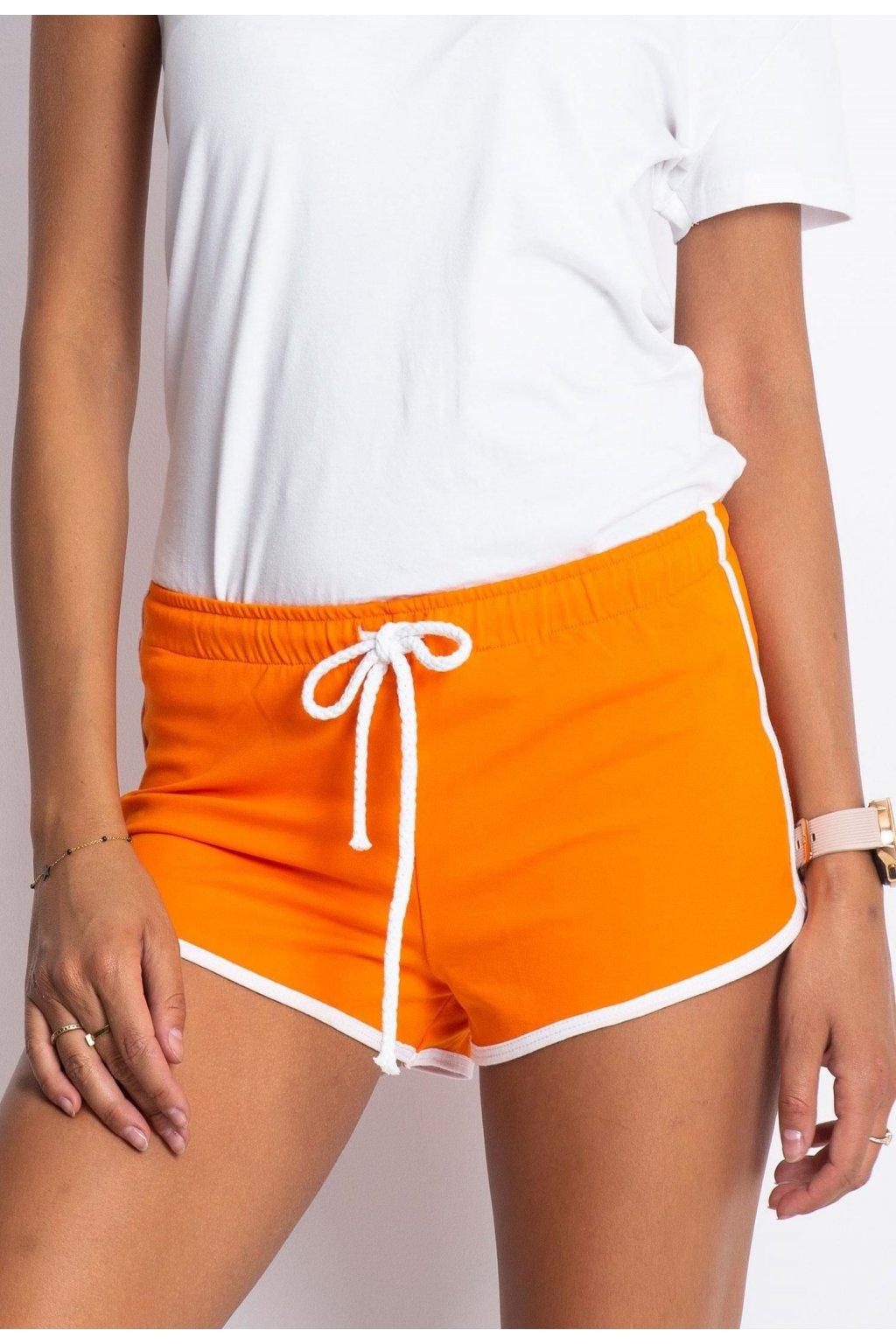 Oranžové dámské kraťasy