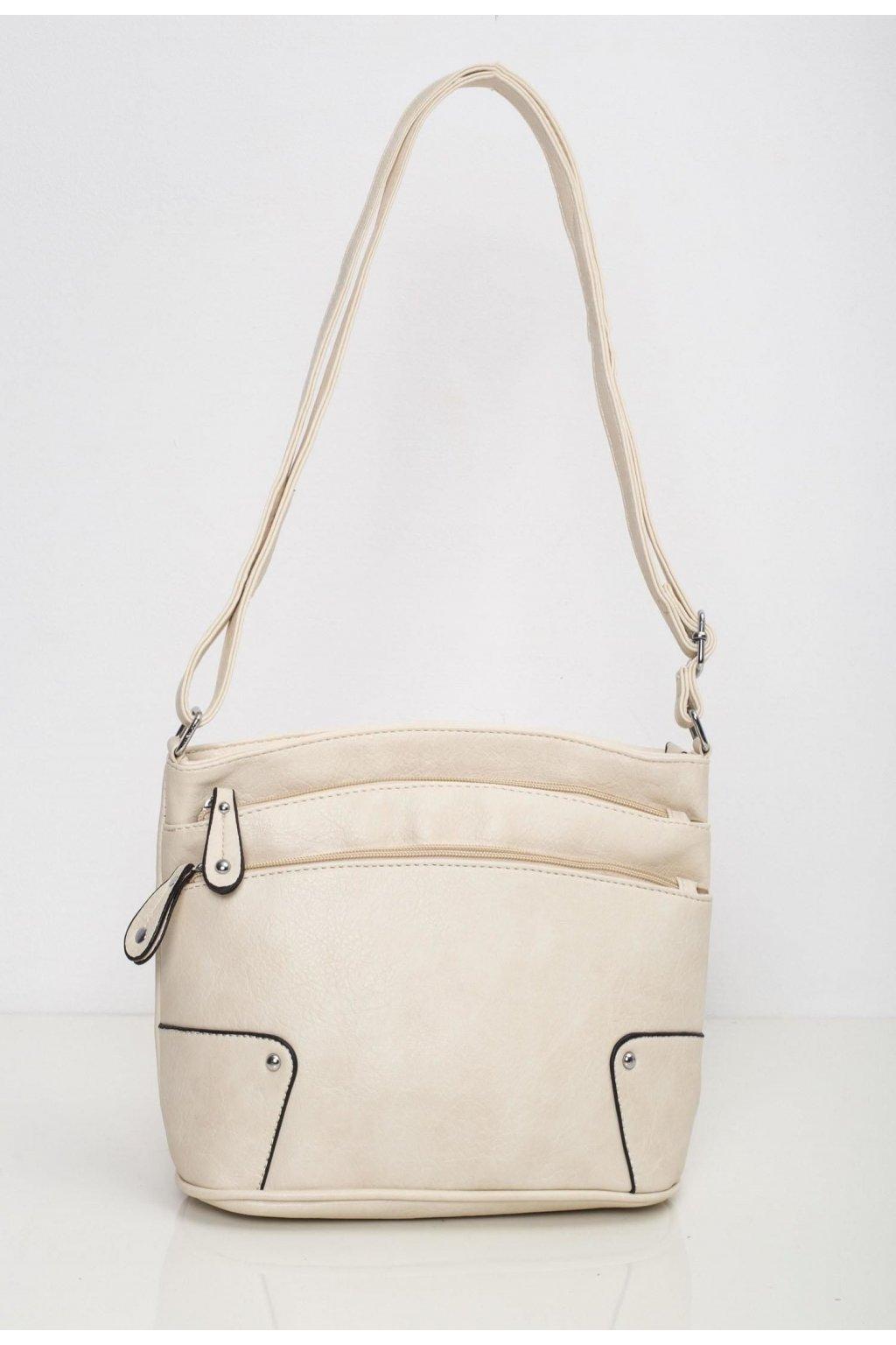 Krémová dámská kabelka