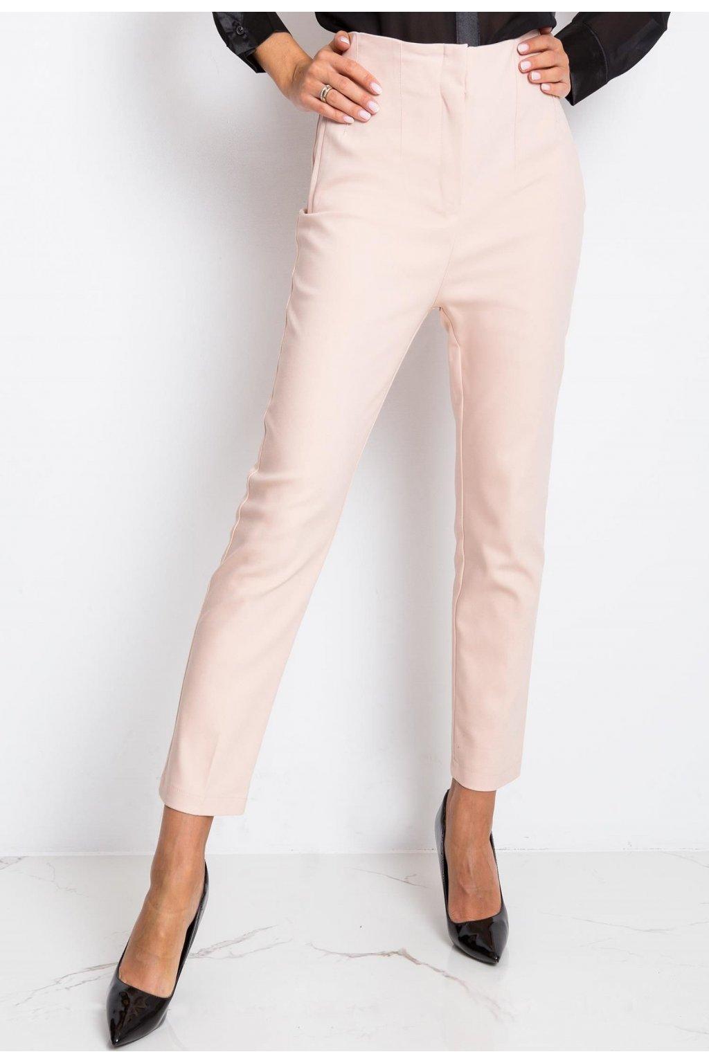 Růžové dámské kalhoty