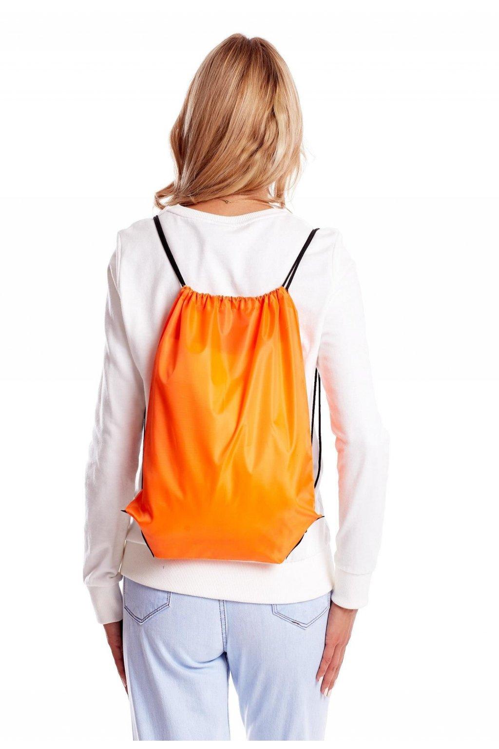 Oranžový dámský batoh