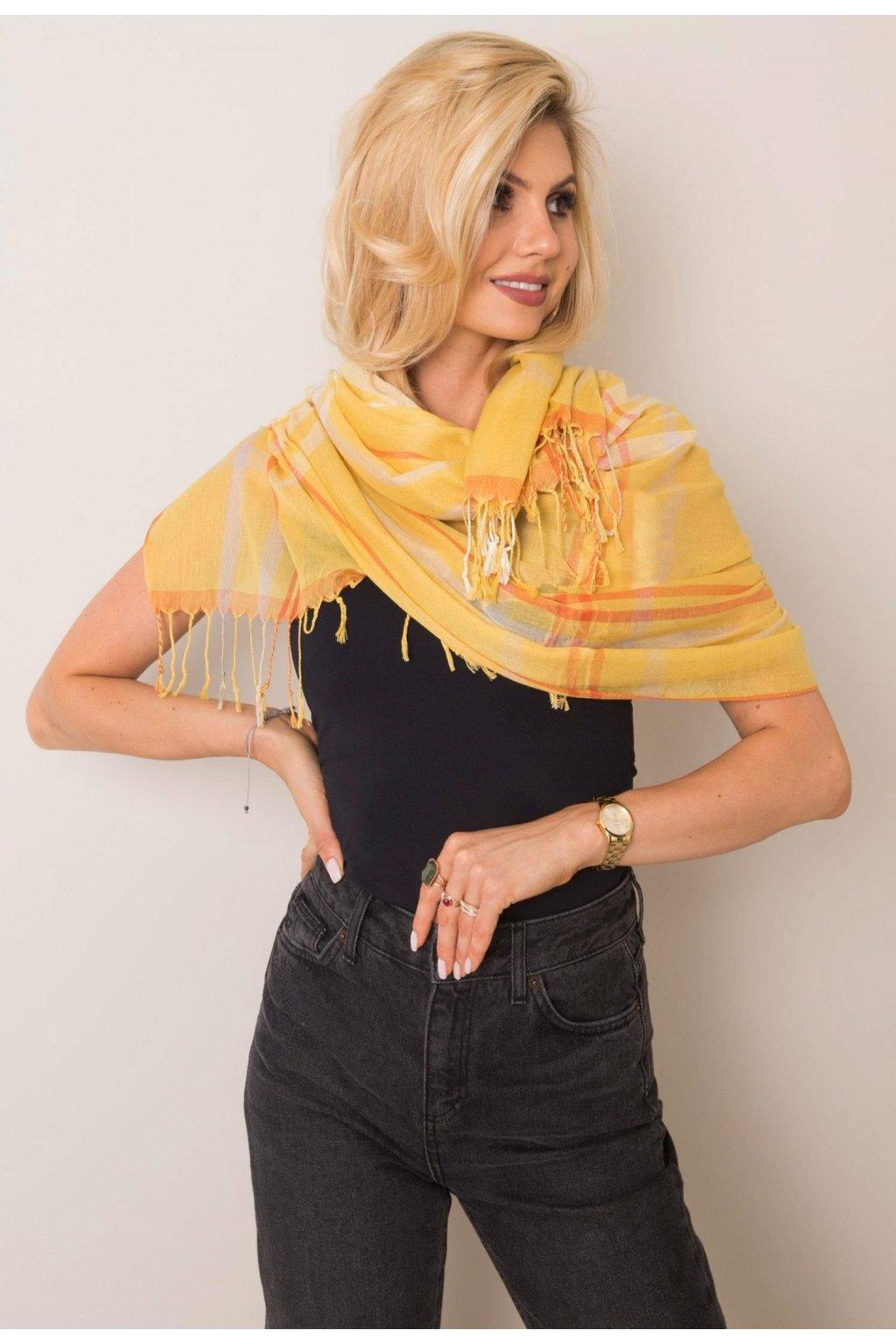 Žlutá dámská šatka