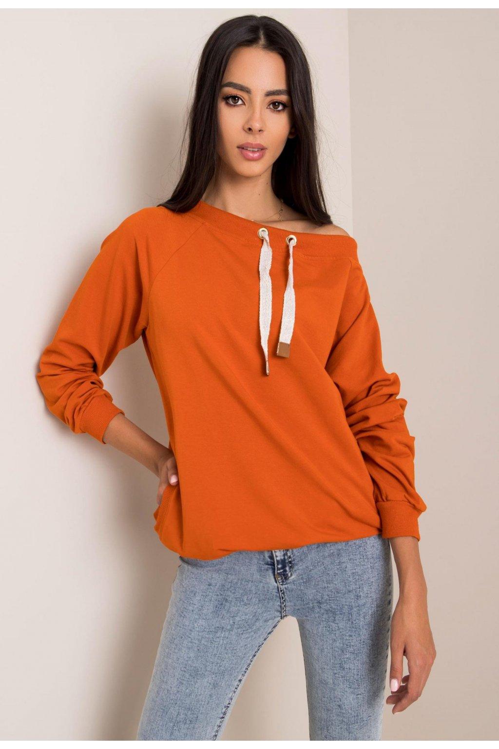 Oranžová dámská mikina
