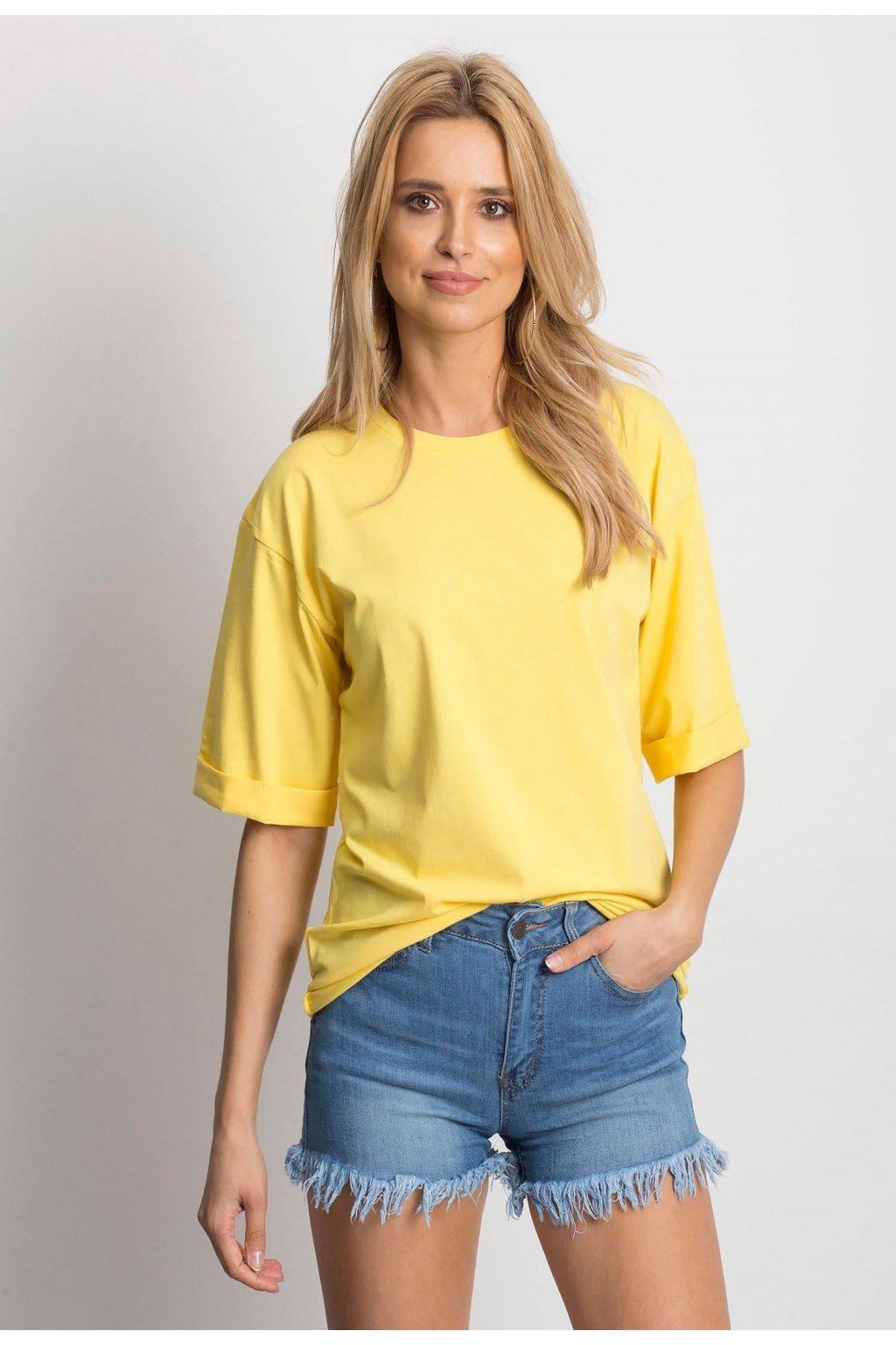 Žlutá dámská halenka