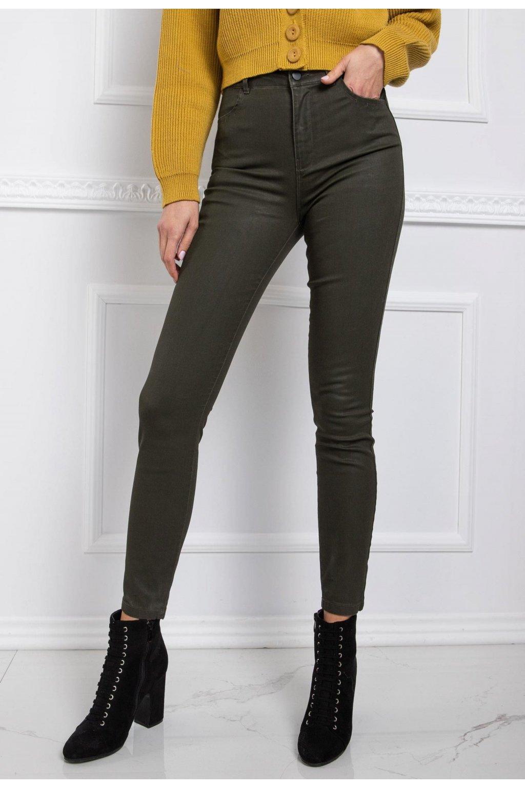 Khaki dámské kalhoty