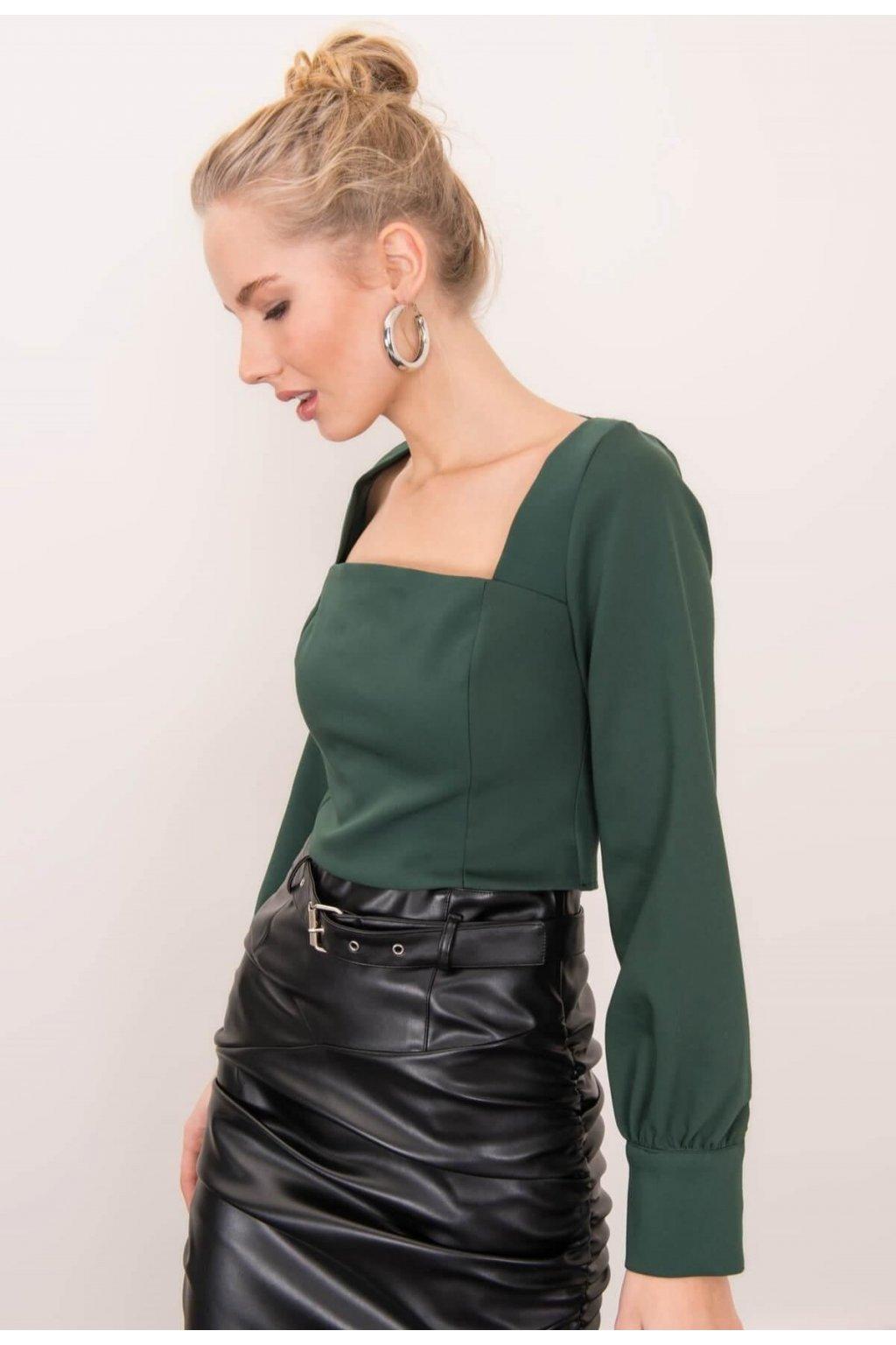 Zelené dámská elegantní halenka
