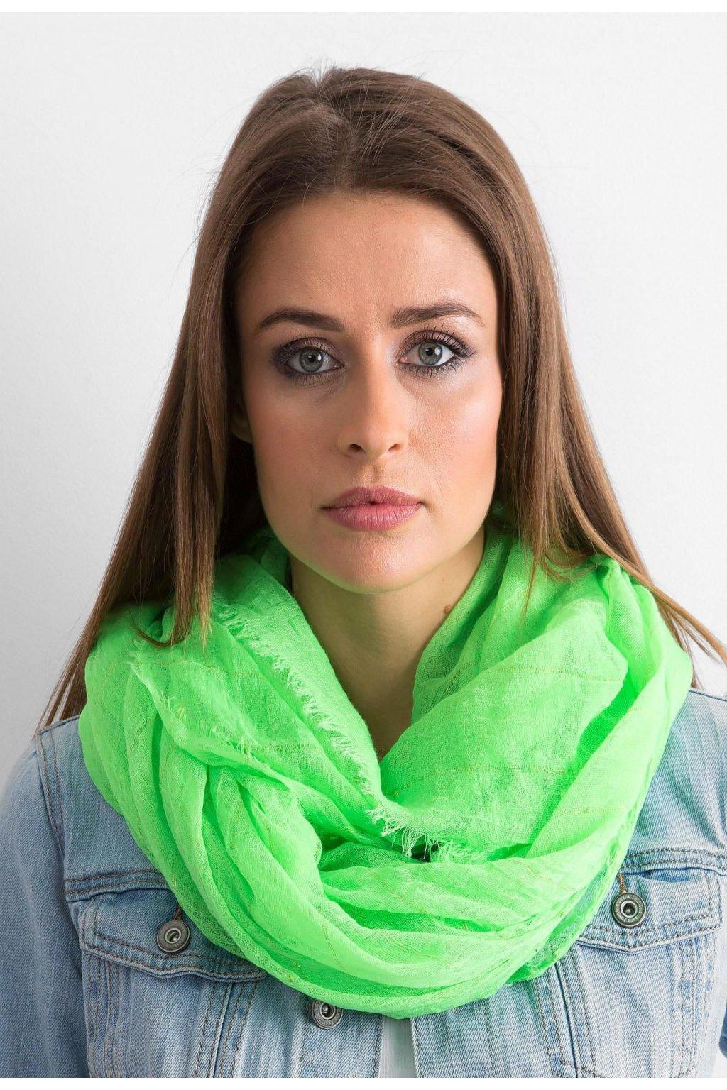 Zelená dámská šatka