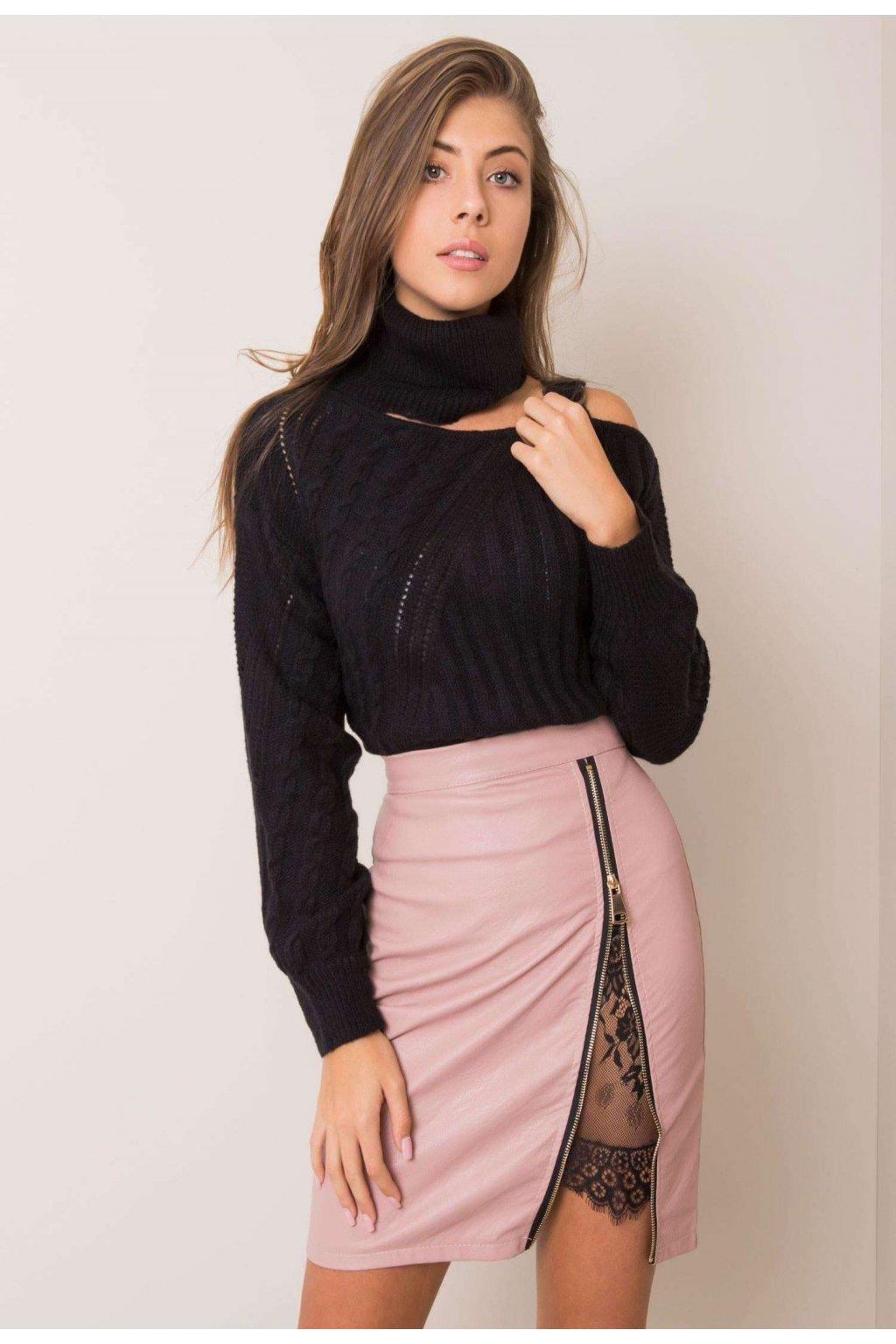 Růžová dámská pouzdrová sukně