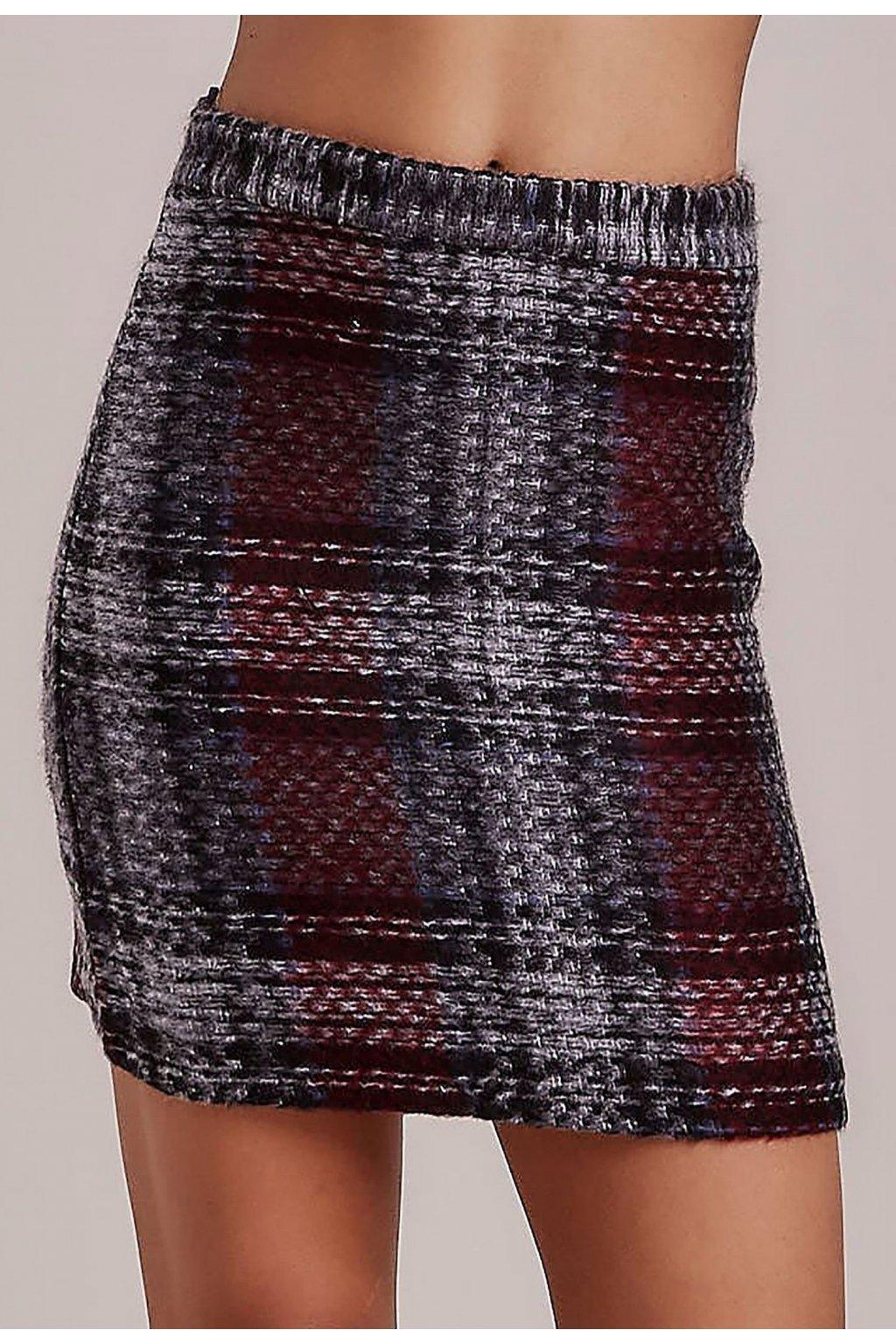 Šedá dámská pouzdrová sukně