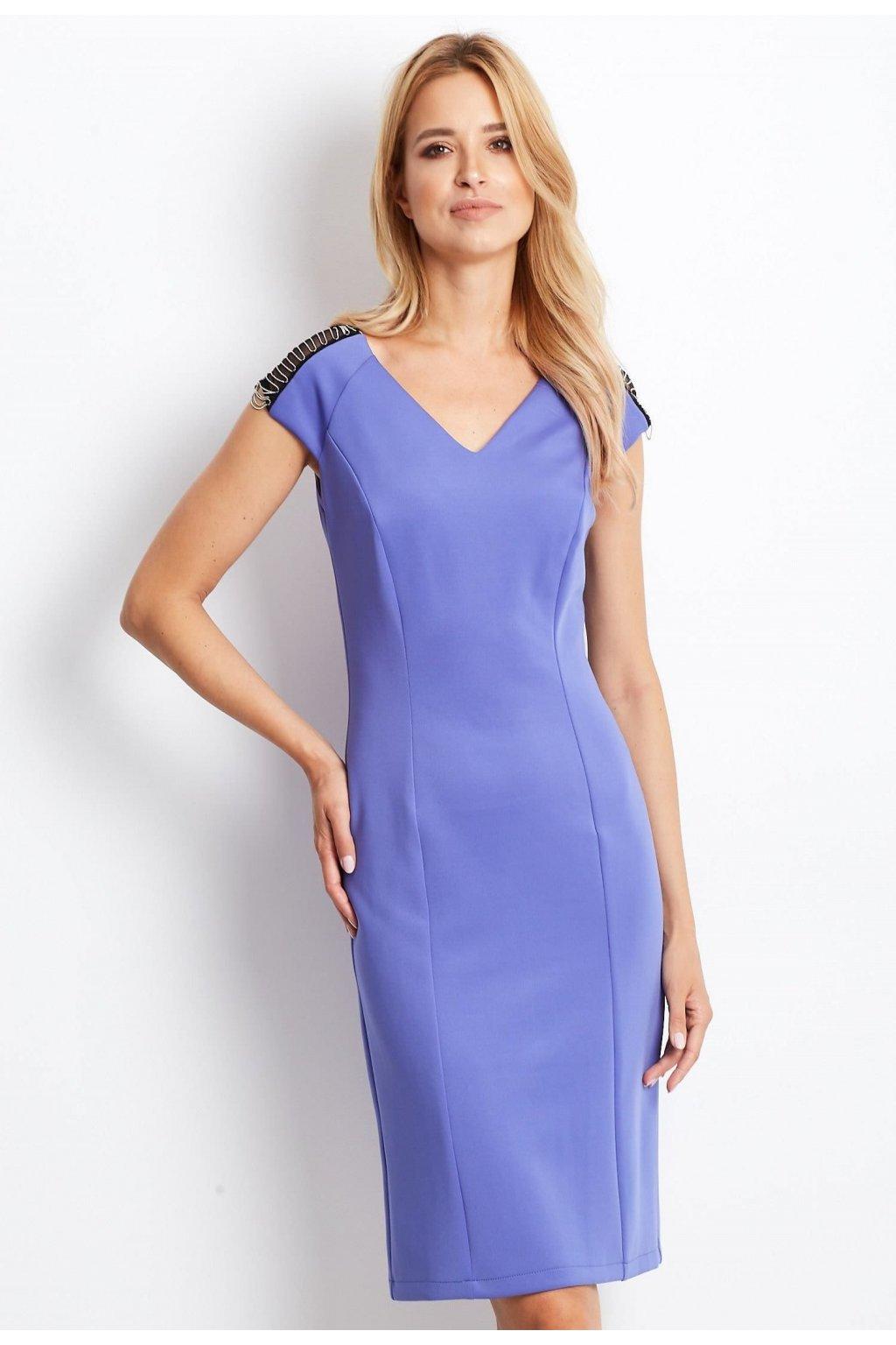 Fialové dámské koktejlové šaty