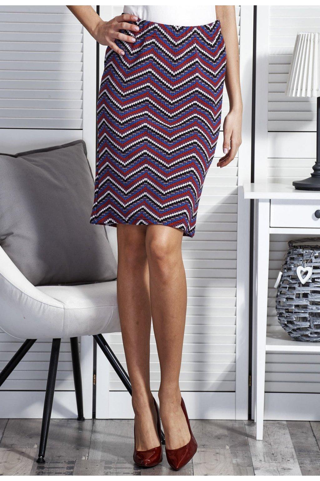 Fialová dámská pouzdrová sukně