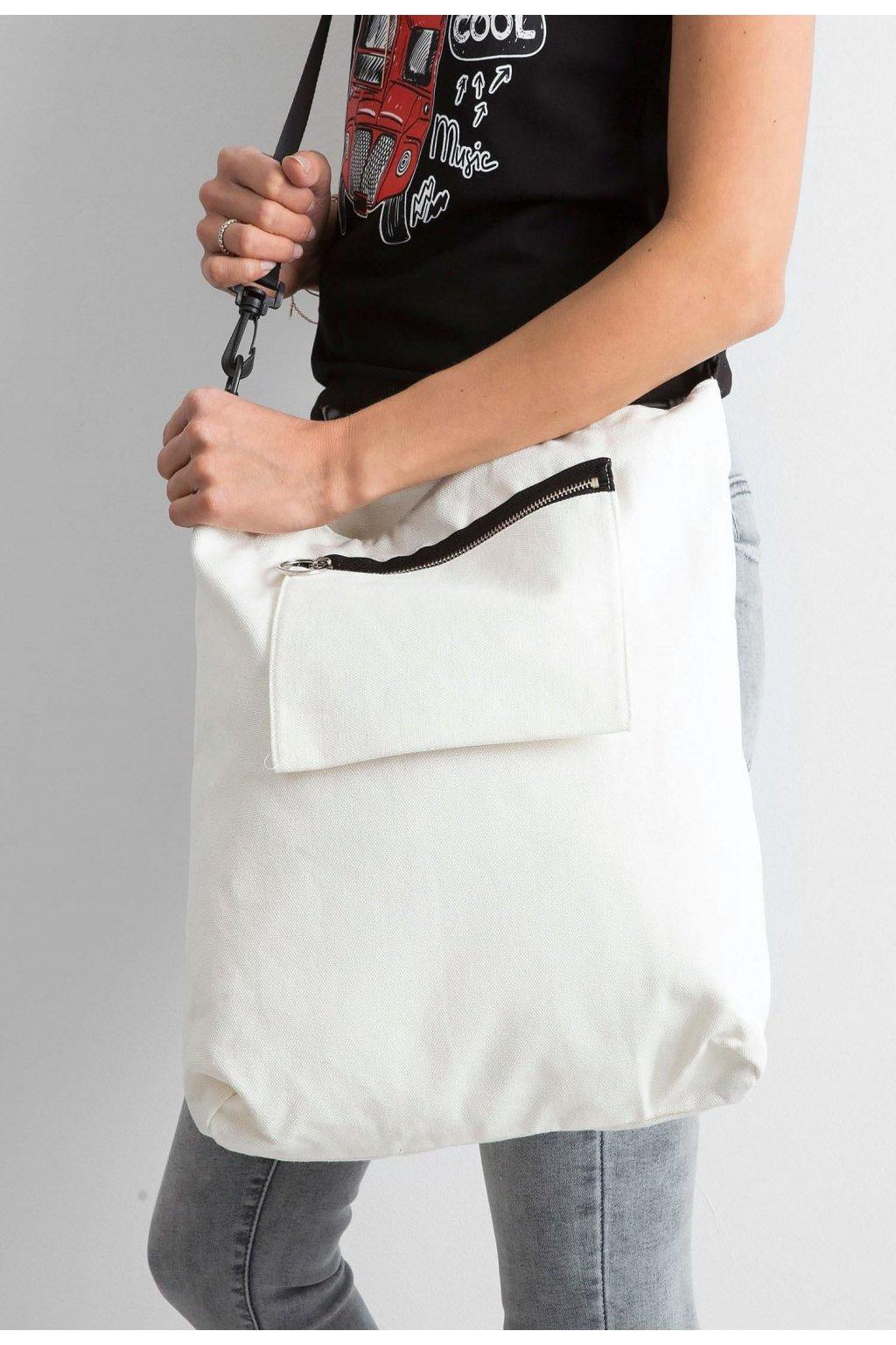 Bílá dámská plážová taška