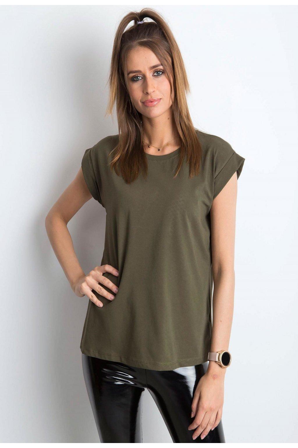 Khaki dámské tričko