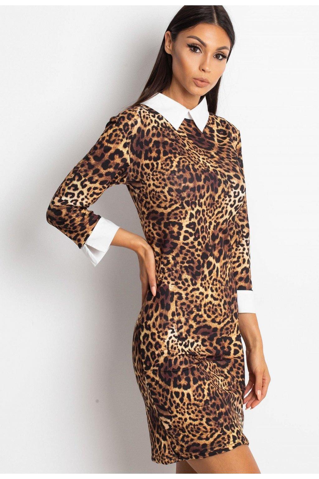 Černé dámské šaty s potiskem