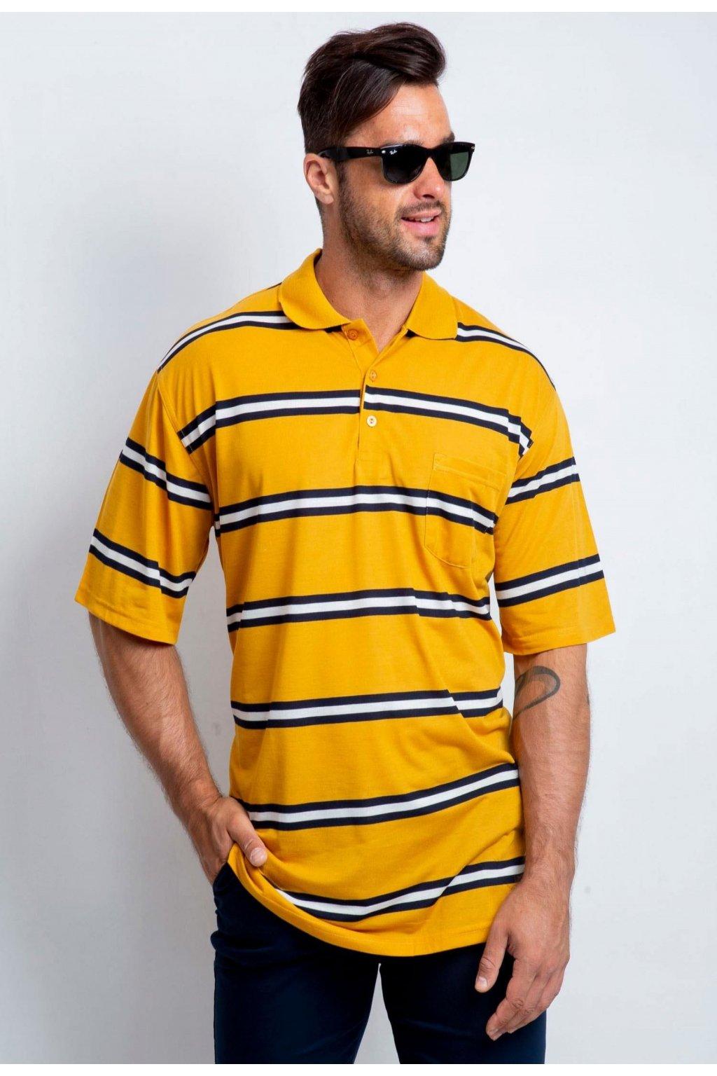 Žlutá pánská polokošile