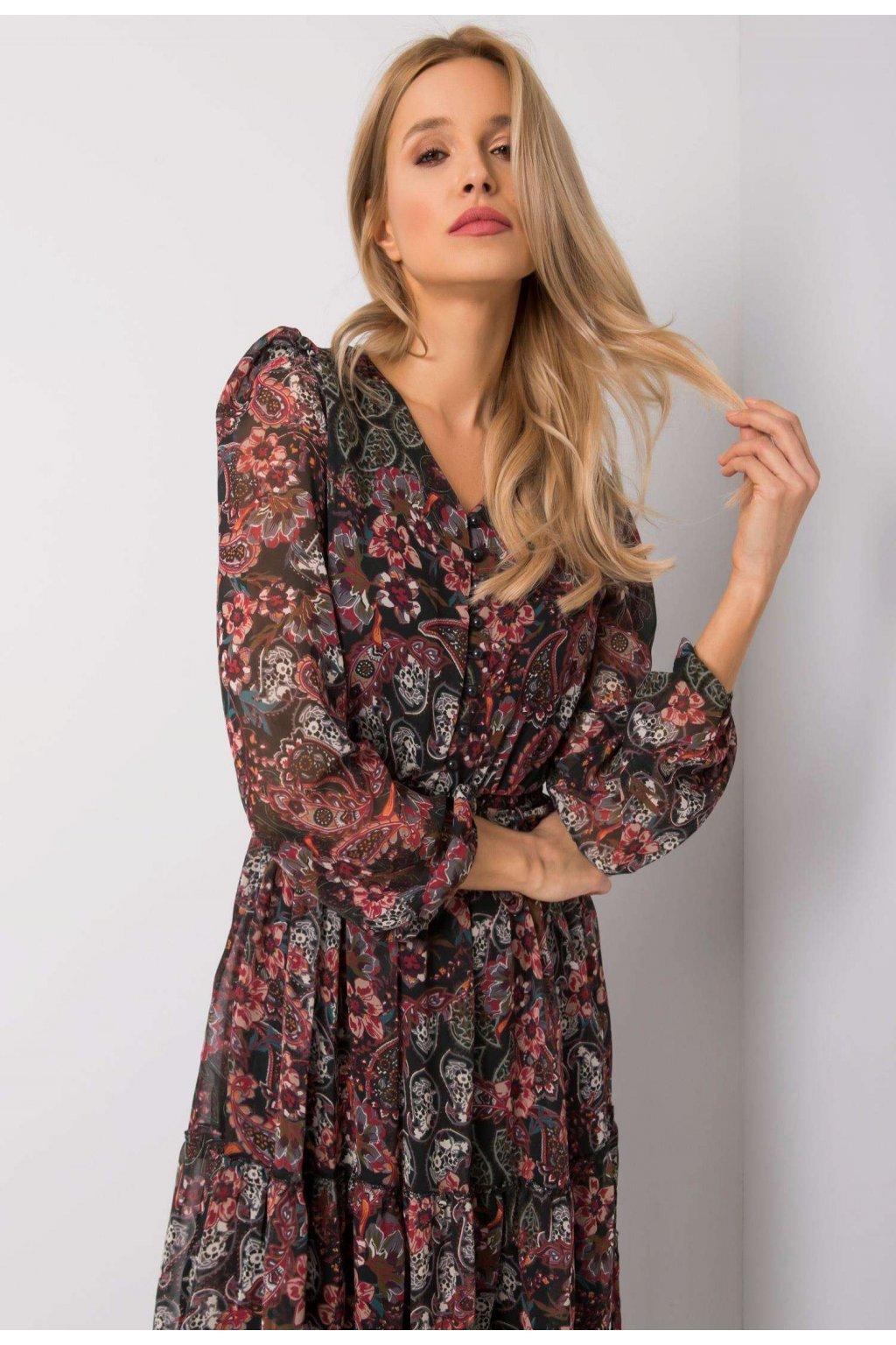 Bordové dámské šaty