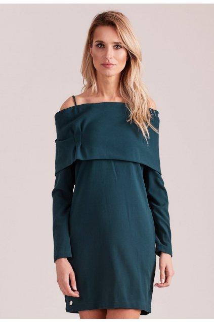 Zelené dámské koktejlové šaty