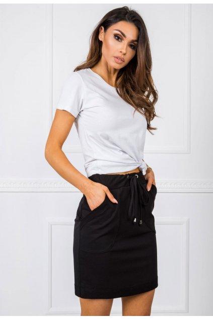 Černá dámská pletená sukně