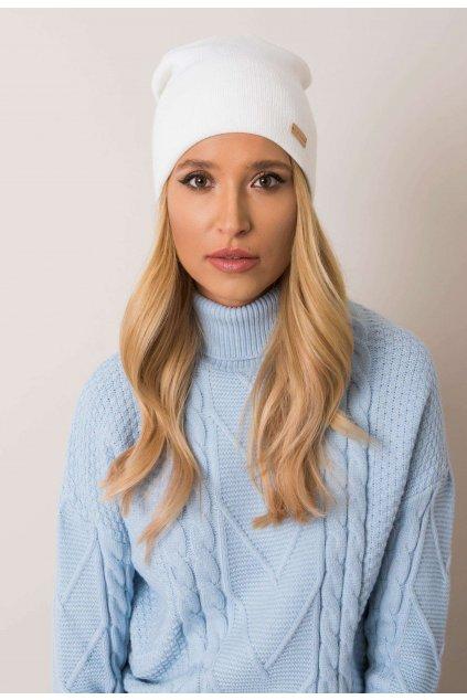 Bílá dámská čepice