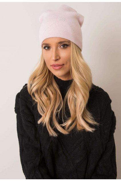 Růžová dámská čepice