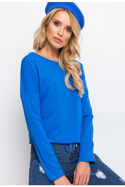 Modrá dámská halenka
