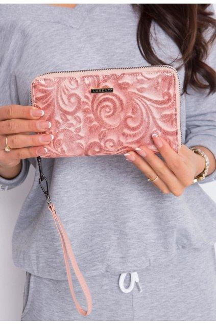 Lososová dámská peněženka