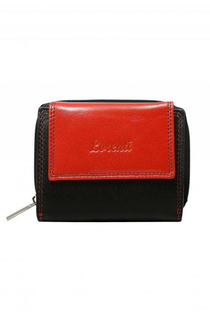 Červená dámská peněženka