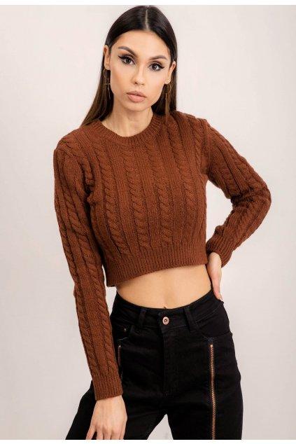 Hnědý dámský svetr