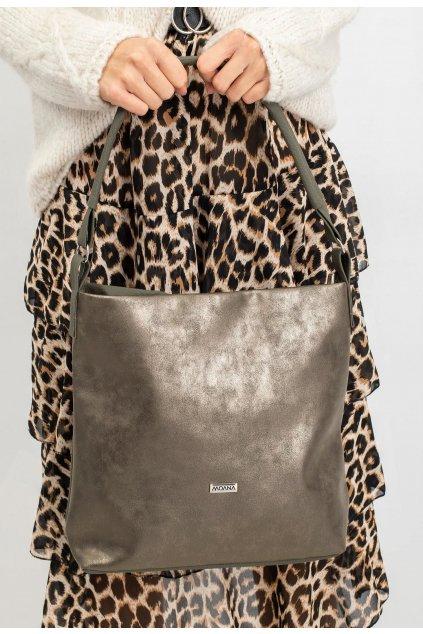 Khaki dámská kabelka