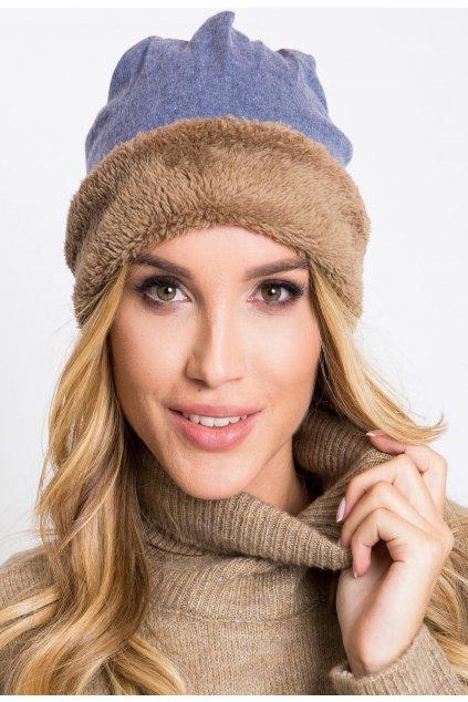 Modrá dámská čepice