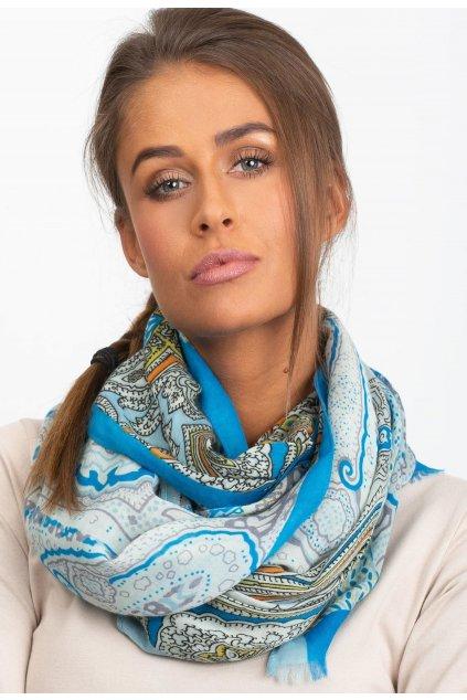 Modrá dámská šatka