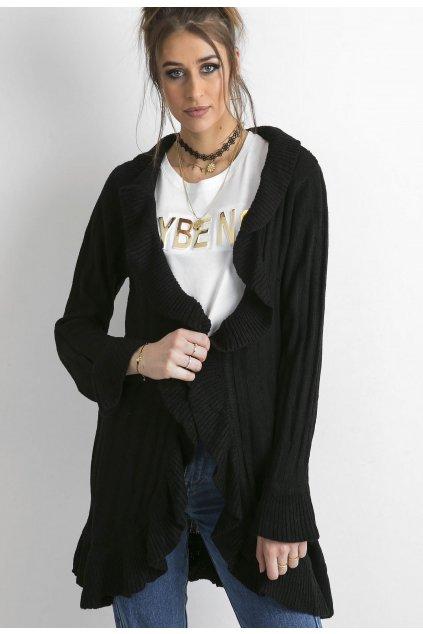 Černé dámský dlouhý svetr
