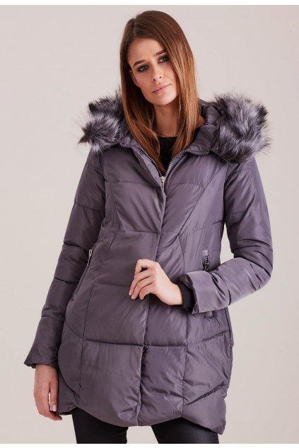Grafitová dámská zimní bunda