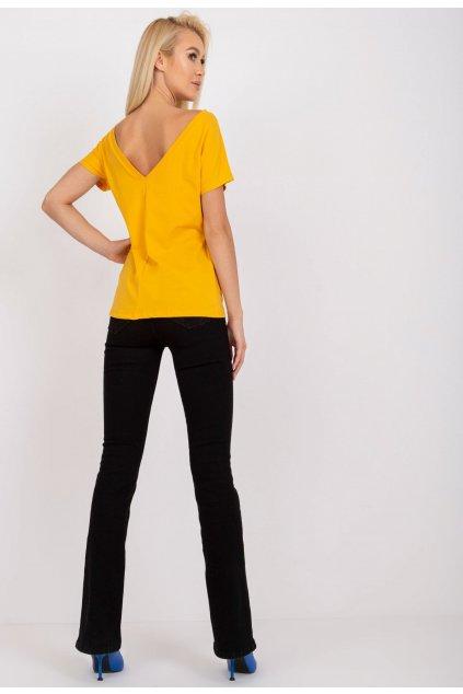 Žluté dámské tričko