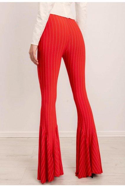 Červené dámské kalhoty