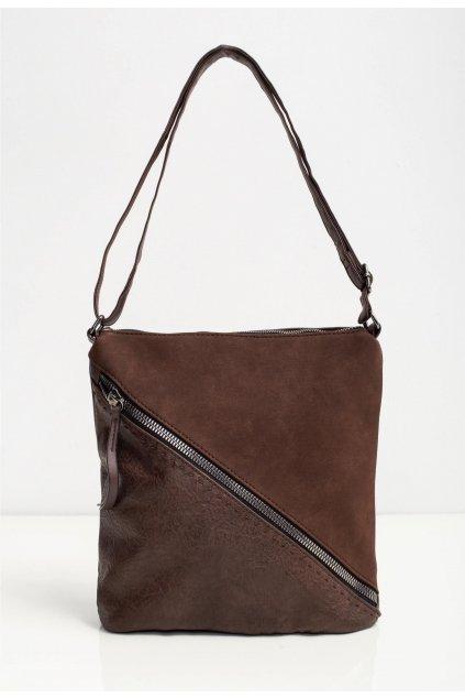 Kávová dámská kabelka
