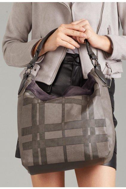 Šedá dámská kabelka