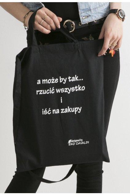 Černá dámská plážová taška